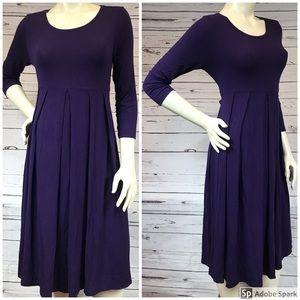 Maternity Dress Purple A-Line Long Sleeve Size XS